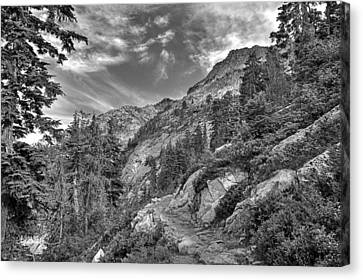 Mount Pilchuck Black And White Canvas Print by Charlie Duncan
