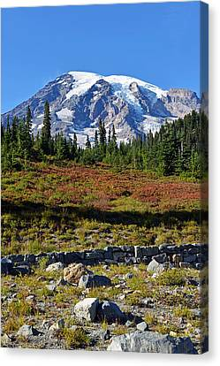 Canvas Print featuring the photograph Mount Rainier by Anthony Baatz