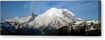 Canvas Print featuring the photograph Mount Rainier From Sunrise by Bob Noble Photography