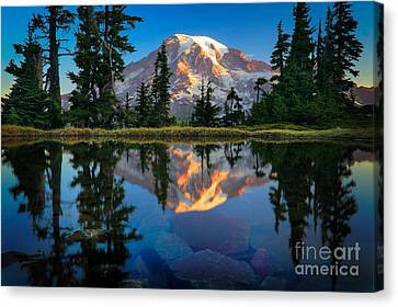 Mount Rainier From Tatoosh Range Canvas Print by Inge Johnsson