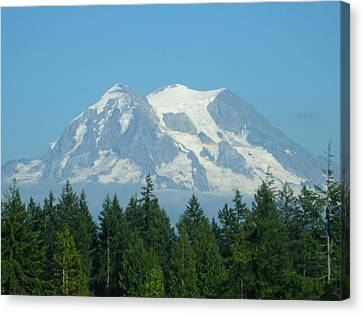 Mount Rainier Canvas Print by Kathy Long
