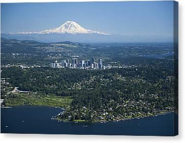 Mount Rainier, Lake Washington Canvas Print