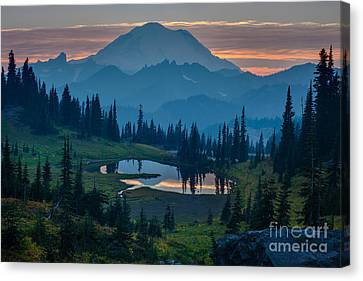 Mount Rainier Layers Canvas Print