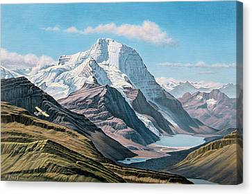 Mount Robson From The Air    Canvas Print by Paul Krapf