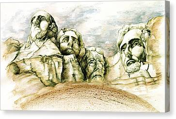 Mount Rushmore Monument - Fine Art Canvas Print by Art America Online Gallery