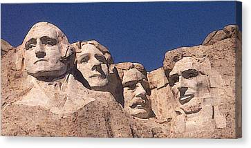 Mount Rushmore American Presidents Canvas Print by Art America Gallery Peter Potter