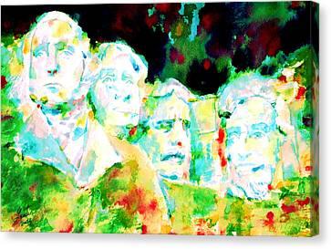Mount Rushmore  Canvas Print by Fabrizio Cassetta
