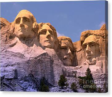 Canvas Print featuring the photograph Mount Rushmore by Olivier Le Queinec