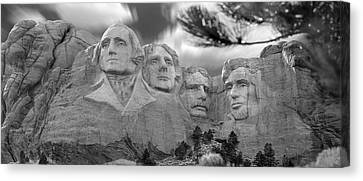 Mount Rushmore Panoramic Canvas Print by Mike McGlothlen