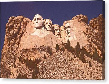 Mount Rushmore Red Canvas Print by Art America Online Gallery