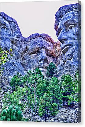 Mount Rushmore Roosevelt Canvas Print by Tommy Anderson