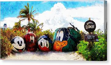 Mount Rustmore Castaway Cay Canvas Print by Sandy MacGowan