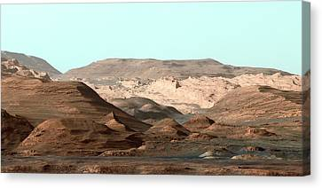 Mount Sharp Canvas Print by Nasa/jpl-caltech/msss
