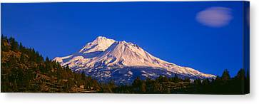 Mount Shasta At Sunrise, California Canvas Print by Panoramic Images