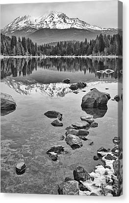 Mount Shasta Reflection Canvas Print by Jamie Pham
