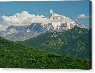Mount St Helens, Afternoon, Summer Canvas Print by Michel Hersen