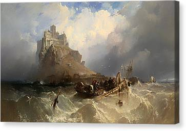 Mount St Michael Cornwall Canvas Print