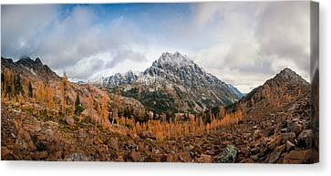 Canvas Print featuring the photograph Mount Stuart Panorama by Brian Bonham
