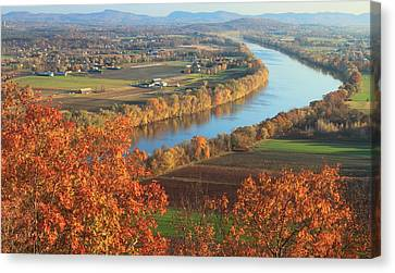 Mount Sugarloaf Connecticut River Autumn Canvas Print by John Burk