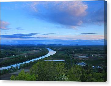 Mount Sugarloaf Connecticut River Spring Evening Canvas Print by John Burk