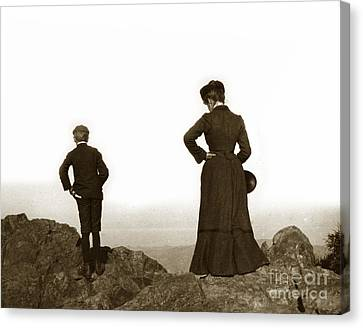 Canvas Print featuring the photograph Mount Tamalpais Marin County California Circa 1902 by California Views Mr Pat Hathaway Archives