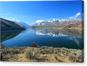 Mount Timpanogos From Deer Creek Canvas Print by Johnny Adolphson