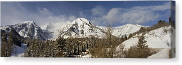 Mount Timpanogos Panorama Canvas Print by Scott Pellegrin