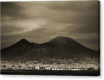 Mount Vesuvius 2012 Ad Canvas Print by Terence Davis