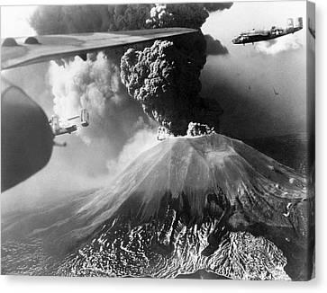 Mount Vesuvius Erupting Canvas Print by Us Air Force