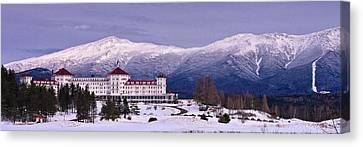 Mount Washington Hotel Winter Pano Canvas Print by Jeff Sinon