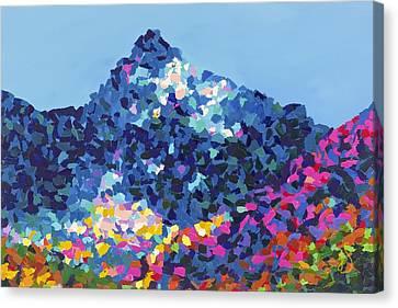 Mountain Abstract Jasper Alberta Canvas Print by Joyce Sherwin