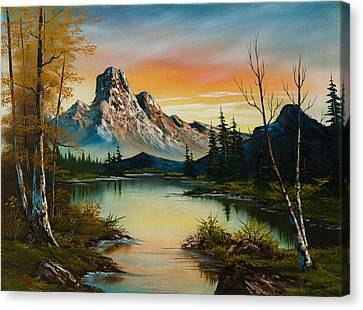 Sunset Lake Canvas Print by C Steele