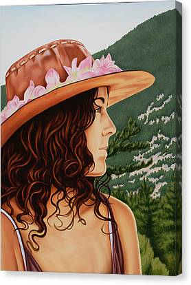 Mountain Beauty Canvas Print by Charles Luna