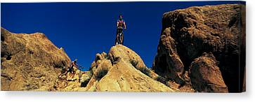 Mountain Bikers Ca Usa Canvas Print by Panoramic Images