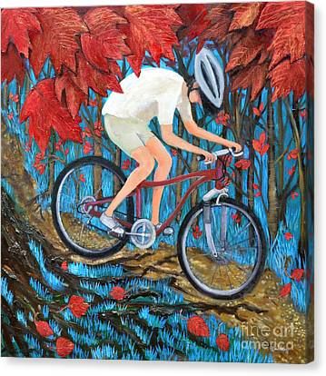 Mountain Biking Canvas Print