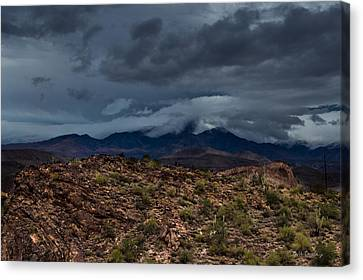 Mountain Blanket Canvas Print by Bill Cantey