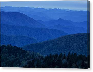 Mountain Blue Canvas Print by Andrew Soundarajan