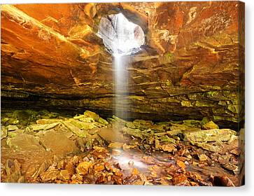 Mountain Bluff Waterfall - Arkansas Canvas Print