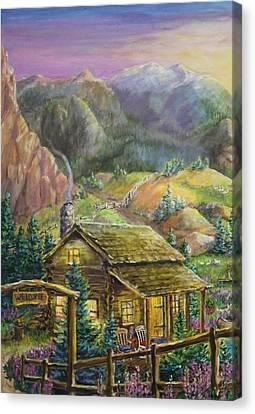 Seem Canvas Print - Mountain Cabin by Jan Mecklenburg