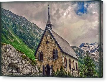 Canvas Print featuring the photograph Mountain Chapel by Hanny Heim