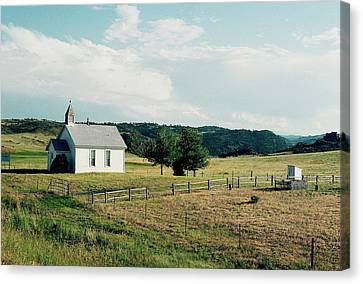 Mountain Church Canvas Print