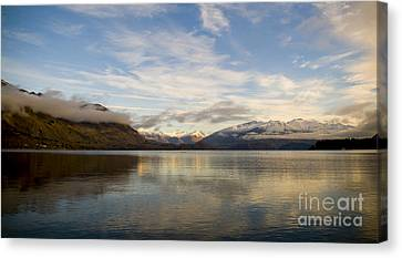 Mountain Dawn Canvas Print by Tim Hester