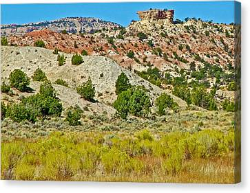 Mountain Desert Of Colorado Plateau Off Hole-in-the-rock Road In Grand Staircase Escalante Nmon-utah Canvas Print by Ruth Hager