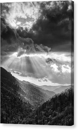 Mountain Drama Canvas Print by Andrew Soundarajan