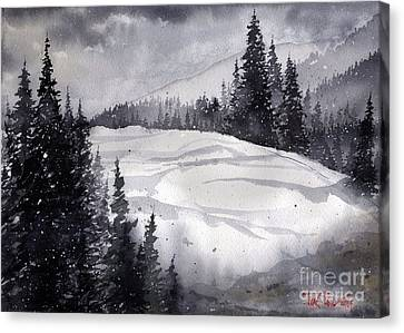Mountain Drift Canvas Print by Tim Oliver