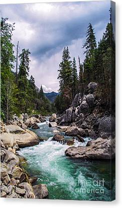 Canvas Print featuring the photograph Mountain Emerald River Photography Print by Jerry Cowart