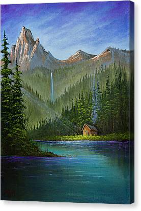 Mountain Haven Canvas Print by C Steele