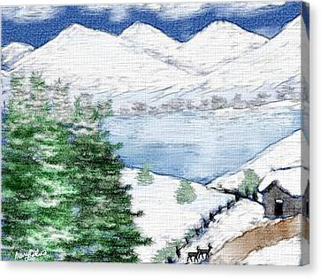 Mountain High Canvas Print by Mary M Collins
