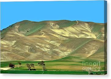 Mountain Hues Canvas Print by Susan Wiedmann