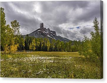 Mountain In The Meadow Canvas Print by Jon Glaser